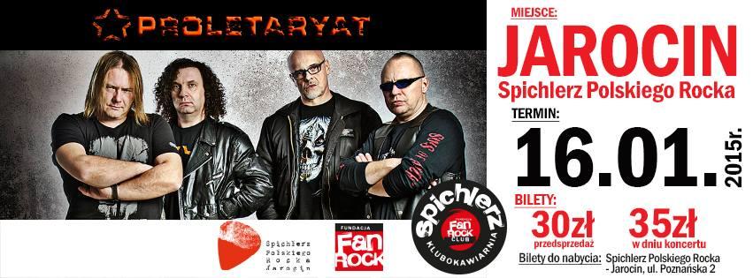 Proletaryat 16 stycznia w Spichlerzu Polskiego Rocka!