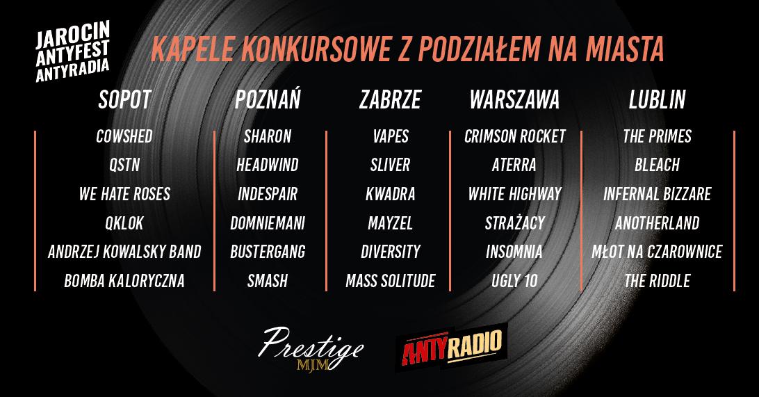 """""""Jarocin – Antyfest Antyradia"""": konkursowa trzydziestka wybrana!"""