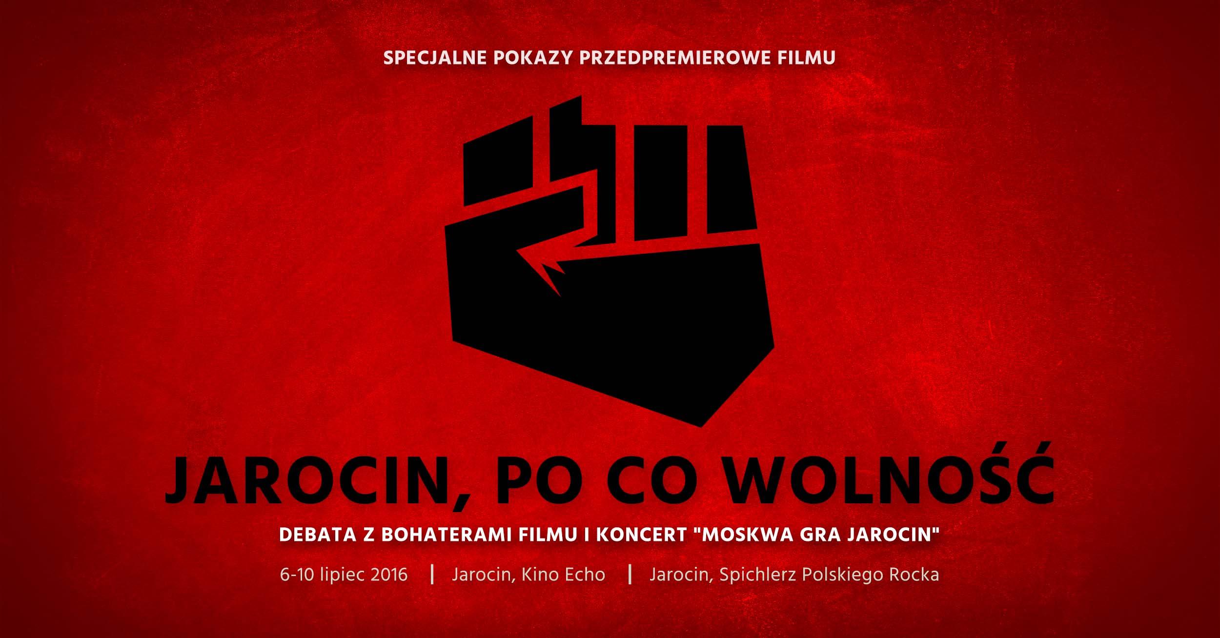 """""""Jarocin, po co wolność"""" – pokazy przedpremierowe i koncert"""