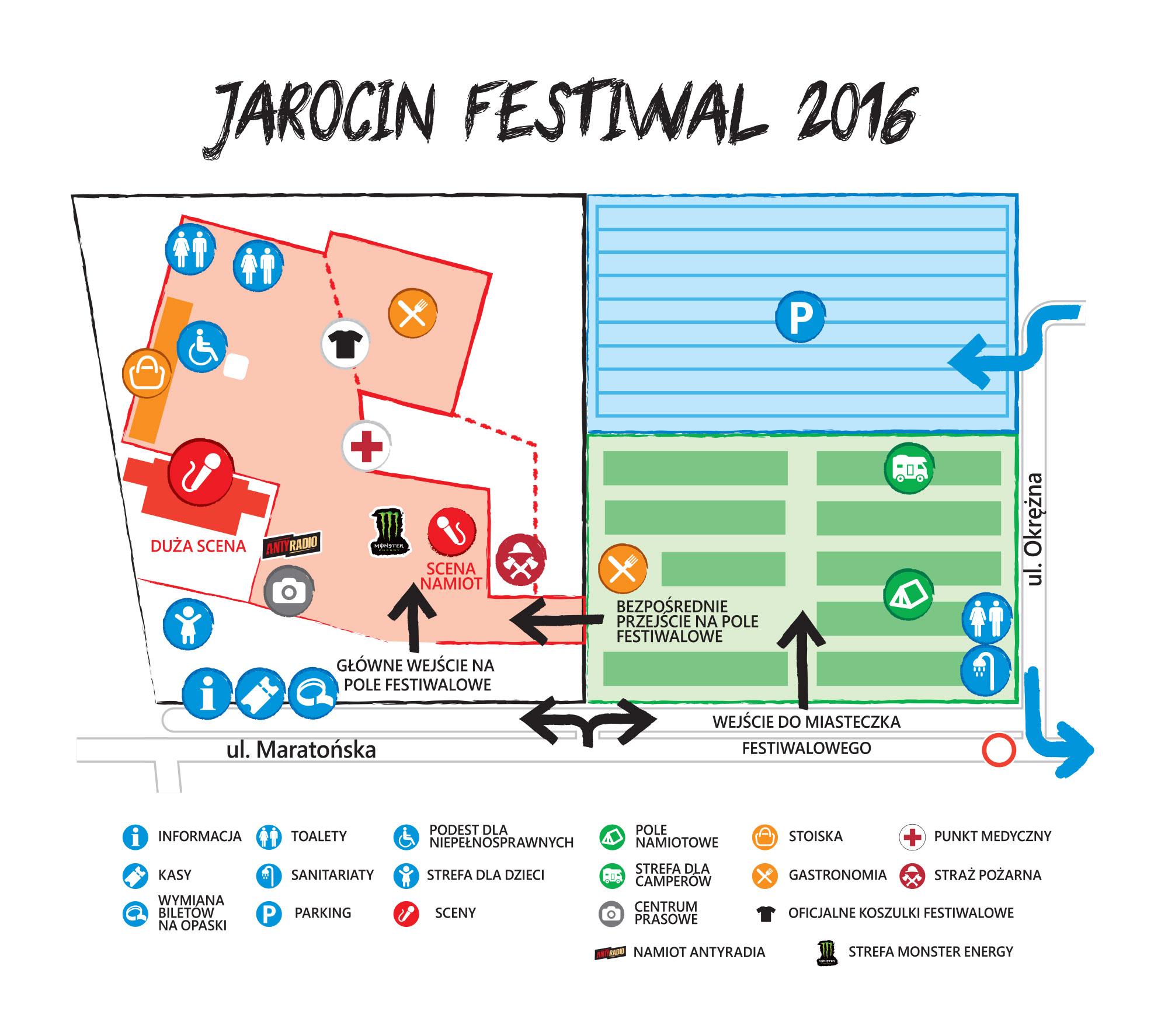 mapa JAROCIN FESTIWAL 2016
