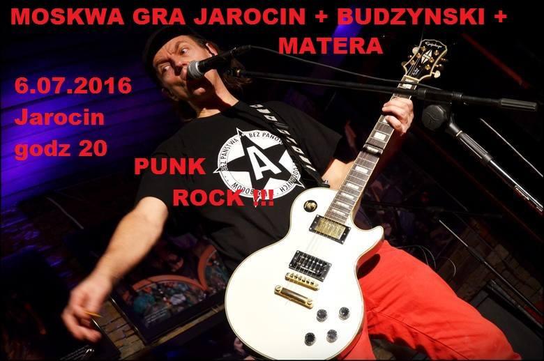 Moskwa gra Jarocin + Budzyński + Matera – koncert