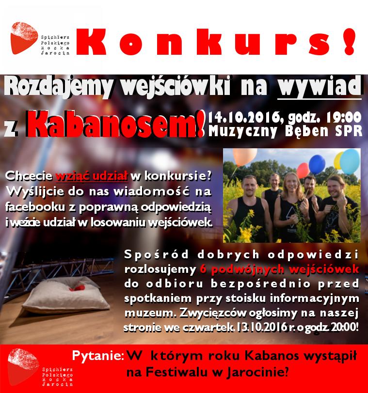 Do wygrania wejściówki na spotkanie z Kabanosem (wpis aktualizowany)
