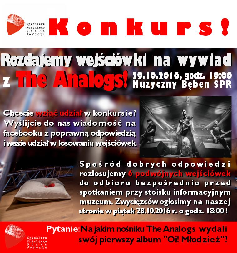 Wywiad z The Analogs – do wygrania wejściówki!