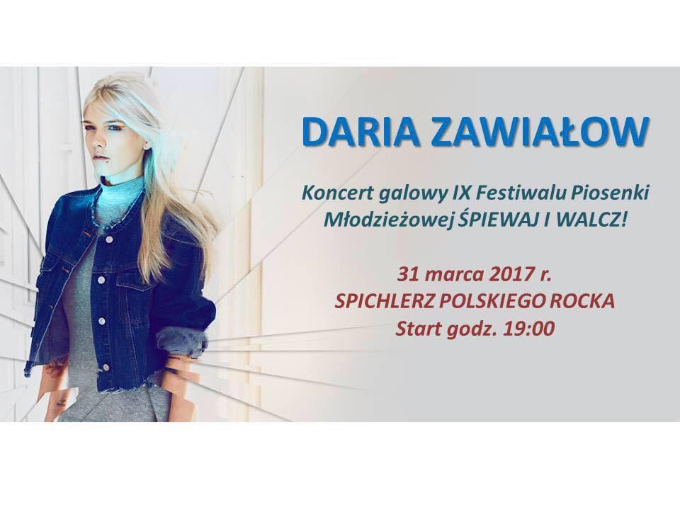 Już jutro w Spichlerzu Gala Piosenki Młodzieżowej z gościnnym udziałem Darii Zawiałow!