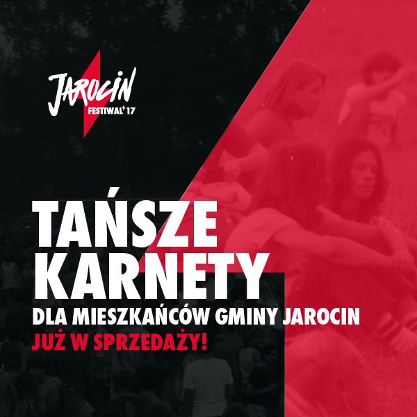 Dziś ruszyła sprzedaż karnetów na tegoroczny Jarocin Festiwal dla mieszkańców gminy Jarocin! :)