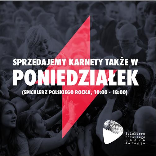 Karnety na JF 2017 dla mieszkańców gminy Jarocin do kupienia również w poniedziałek 29.05.2017
