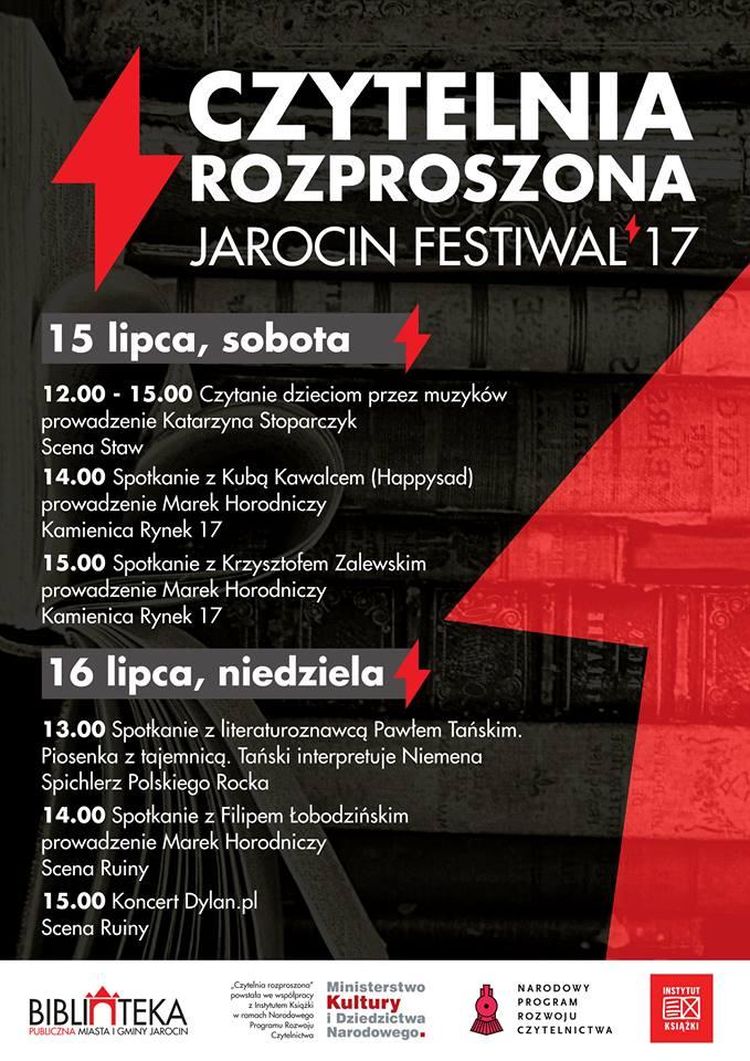 Czytelnia rozproszona podczas Jarocin Festiwal'17.