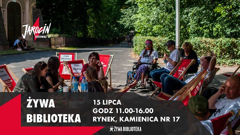 Żywa Biblioteka podczas Jarocin Festiwal'17.
