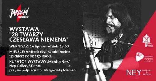 """Wystawa """"28 twarzy Czesława Niemena"""" w SPR – wernisaż podczas Jarocin Festiwal'17."""