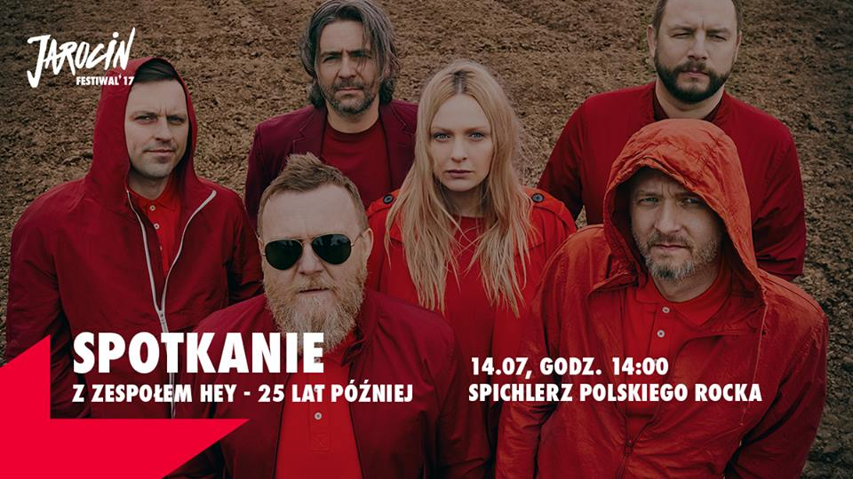 Spotkanie z zespołem Hey – 25 lat później. Jarocin Festiwal'17.
