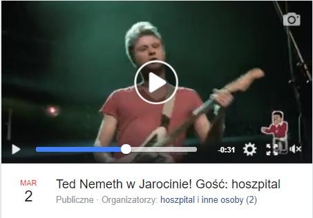 Ted Nemeth + Hoszpital 2 marca zagrają w Spichlerzu