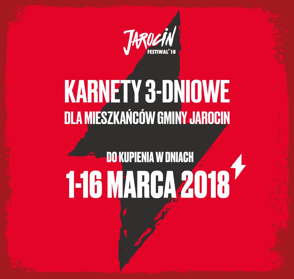 Jarocin Festiwal 2018: promocyjne karnety dla mieszkańców gminy Jarocin w sprzedaży od 1 marca