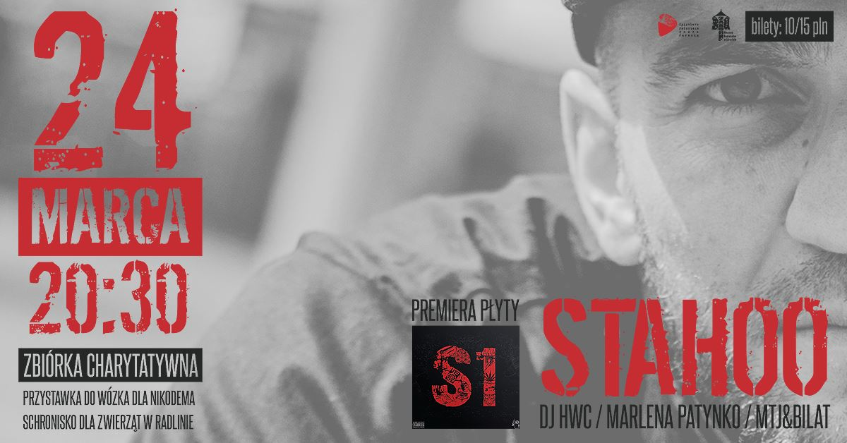 Przypominamy! W najbliższą sobotę (24 marca) w SPR zagrają: Stahoo/DJ HWC/Marlena Patynko/MTJ&BILAT