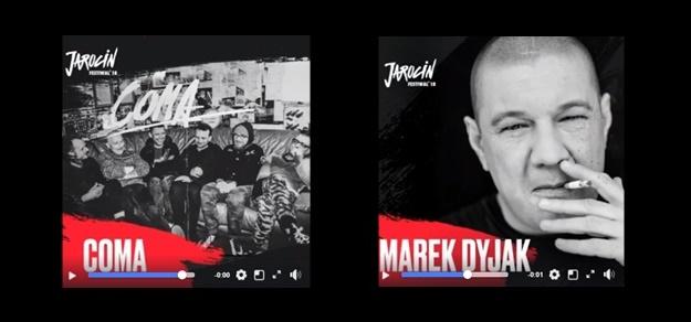 Kolejni artyści, którzy zagrają w tym roku na Jarocin Festiwal to COMA i Marek Dyjak.