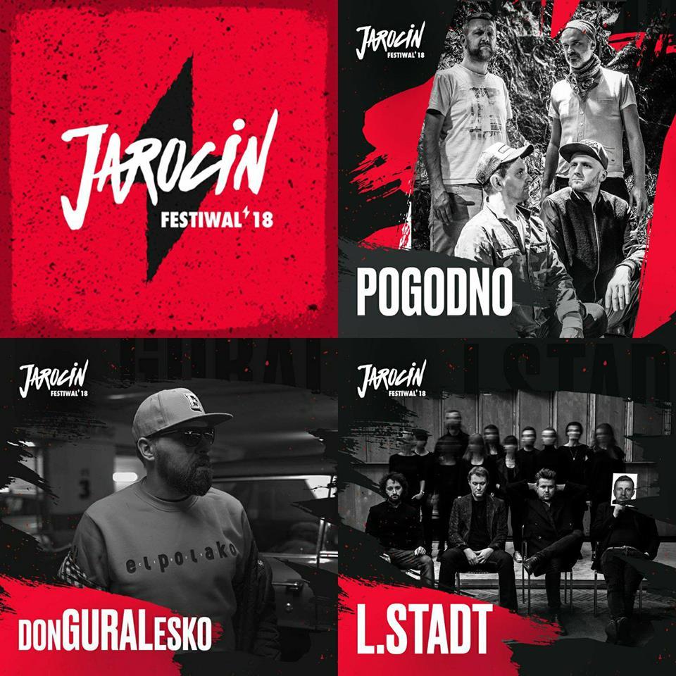 POGODNO, donGURALesko i L.Stadt dołączają do składu Jarocin Festiwal 2018