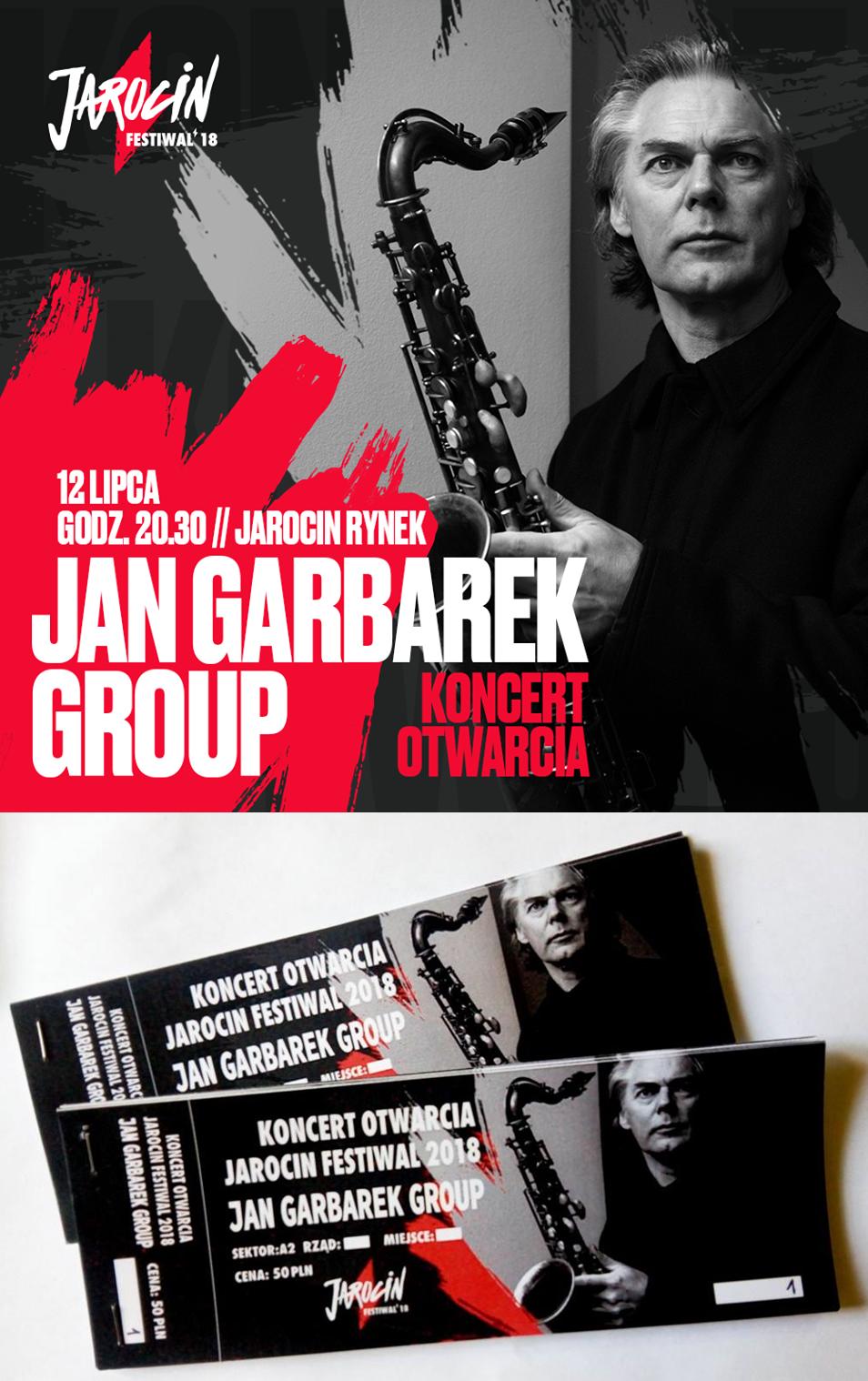 Bilety na koncert Jana Garbarka!!!