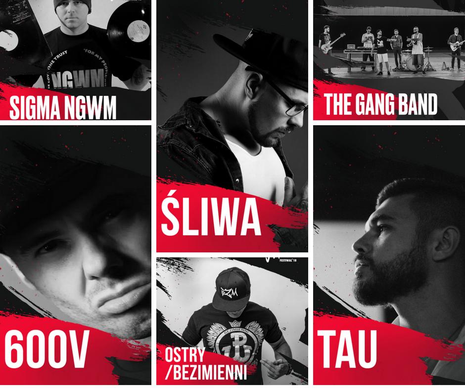 Hip-hopowa ekipa zaproszona do współpracy przez jarocińskiego rapera – Sigma NGWM: DJ 600V, OSTRY Bezimienni, The Gang Band, Tau i Śliwa Aspiratio Crew dołącza do składu JF2018!