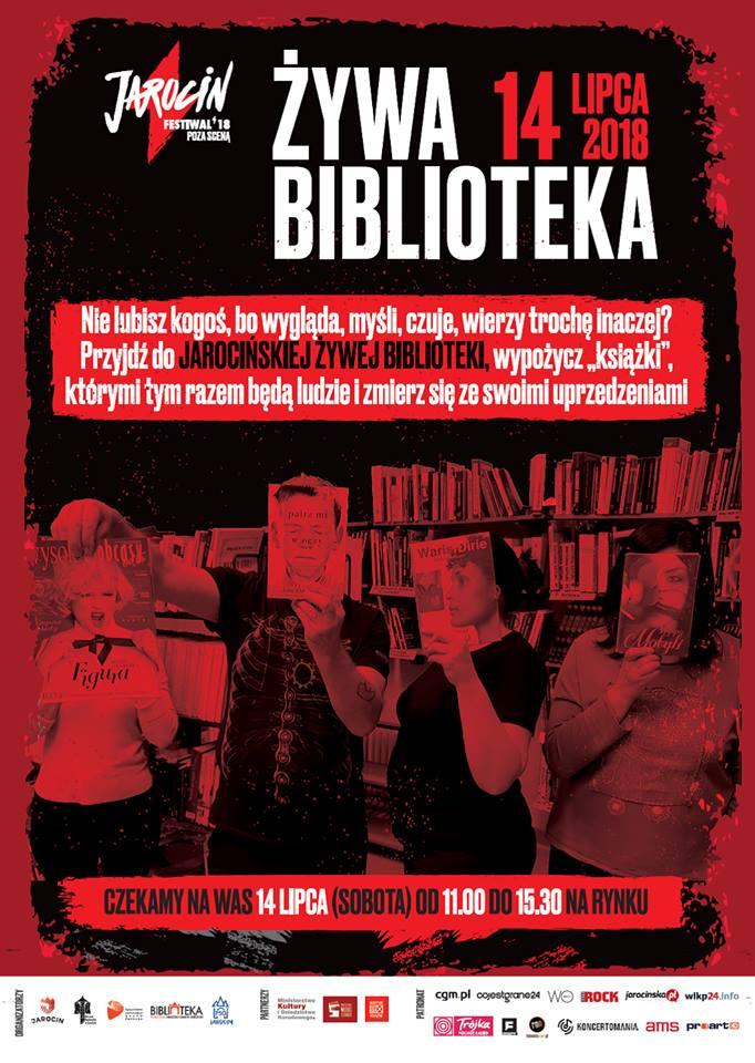 Jarocin Festiwal 2018: Żywa biblioteka, czyli pozbądź się uprzedzeń