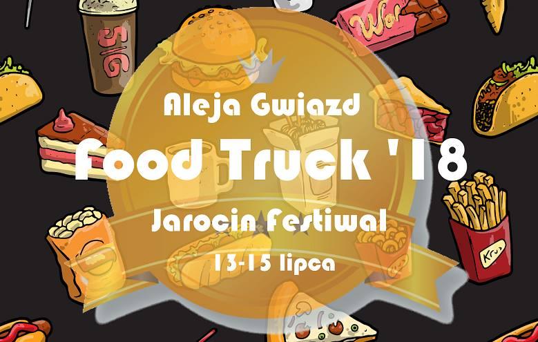 Aleja Gwiazd Food Truck'18 podczas Jarocin Festiwal 2018