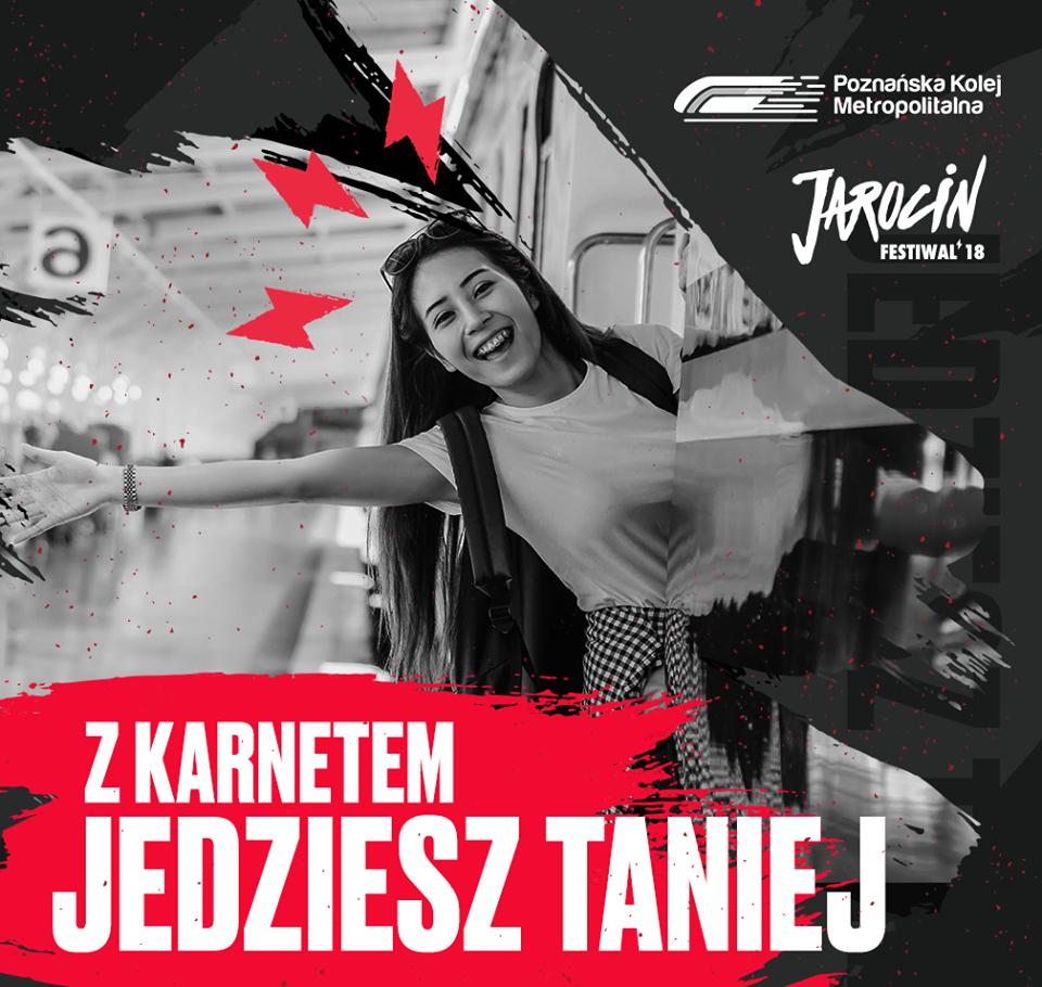 Jarocin Festiwal 2018: posiadasz karnet, jedziesz taniej Poznańską Koleją Metropolitalną!