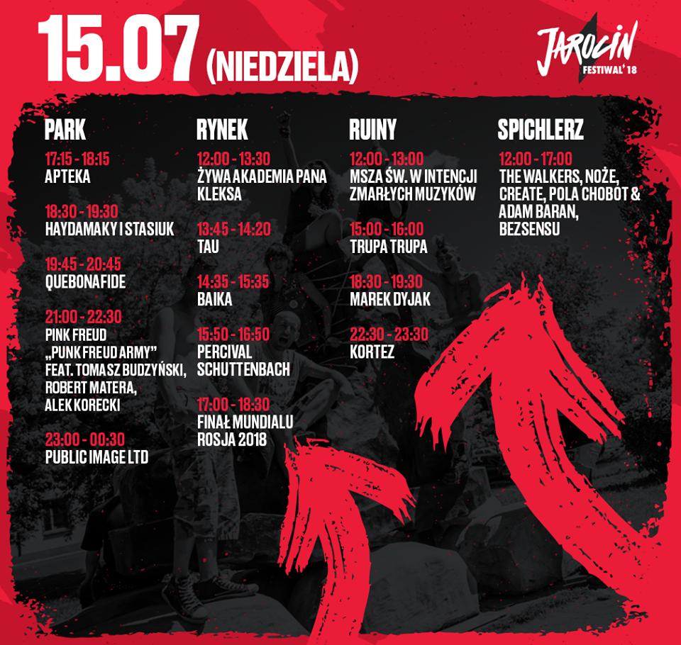 Line-up trzeciego dnia festiwalu!