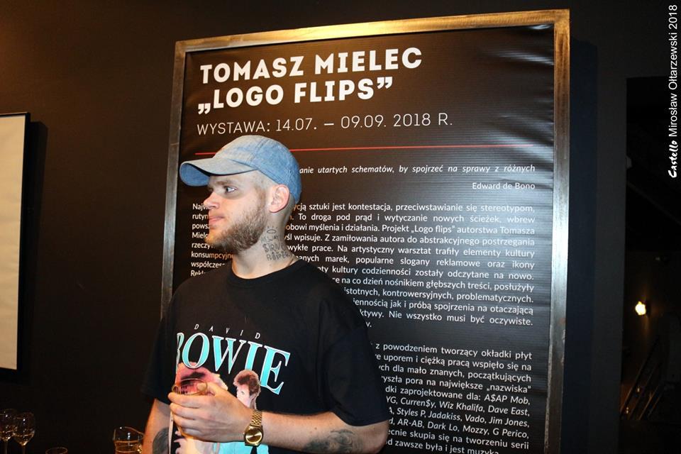 """Wernisaż wystawy Tomasza Mielca """"Logo Flip Series"""" – fotorelacja"""