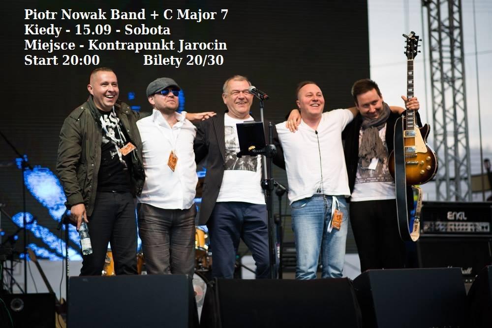 W sobotę 15.09.2018 r. koncert oraz spotkanie z zespołem – Piotr Nowak Band + C Major 7