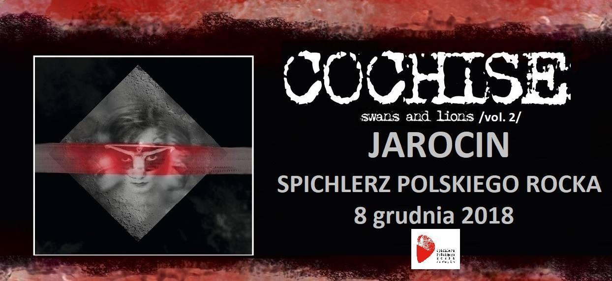 Przypominamy! W najbliższą sobotę (08.12.2018 r.) na naszej scenie: Cochise!