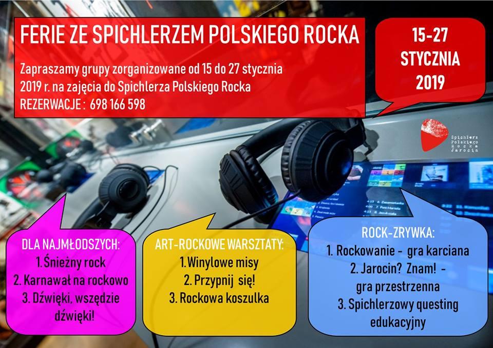 Ferie ze Spichlerzem Polskiego Rocka! Zapraszamy!
