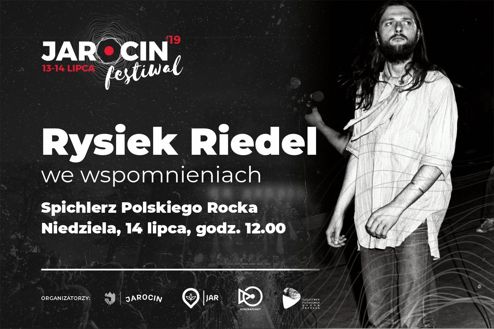 """""""Rysiek Riedel we wspomnieniach"""" – 14.07.2019 r. w SPR. Zapraszamy!"""