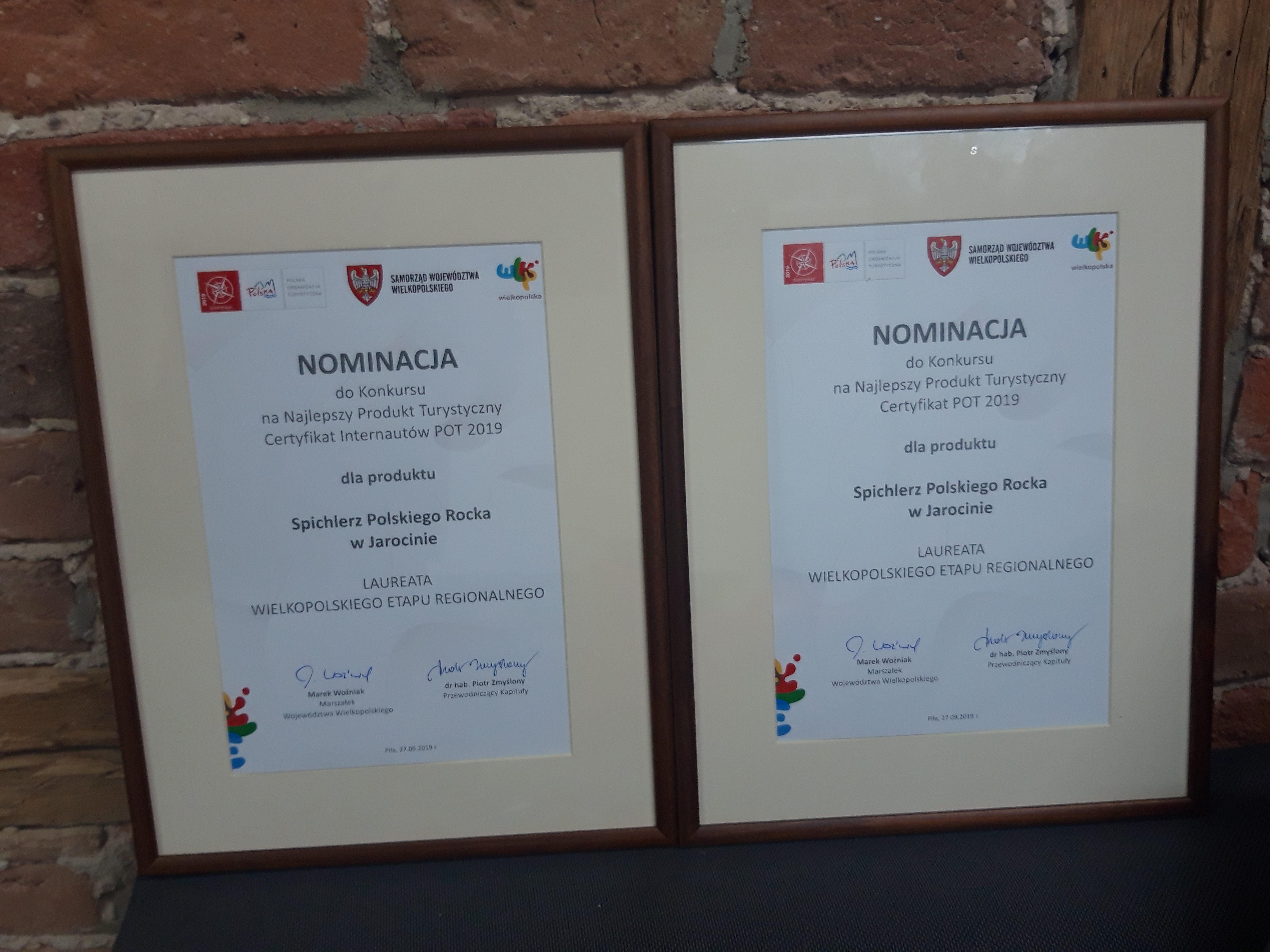"""SPR na rozstrzygnięciu regionalnego etapu konkursu """"Najlepszy Produkt Turystyczny Certyfikat POT 2019 – fotorelacja :)"""