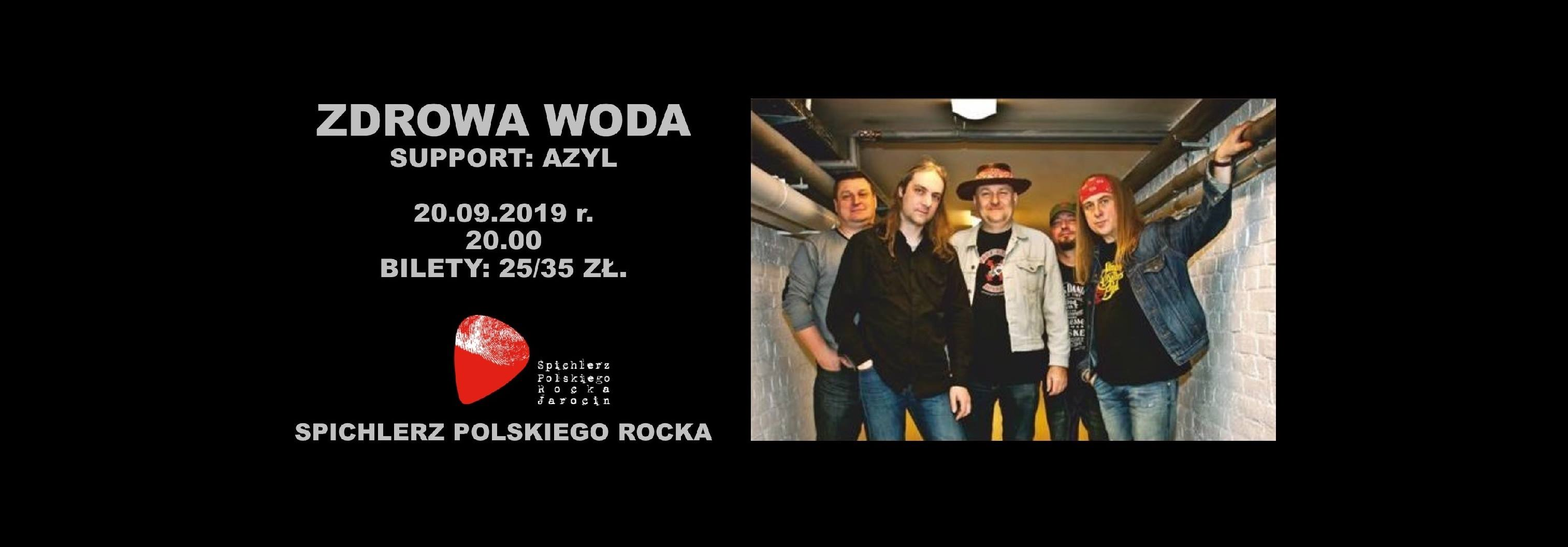 Przypominamy! Koncert zespołów Zdrowa Woda i Azyl w najbliższy piątek.
