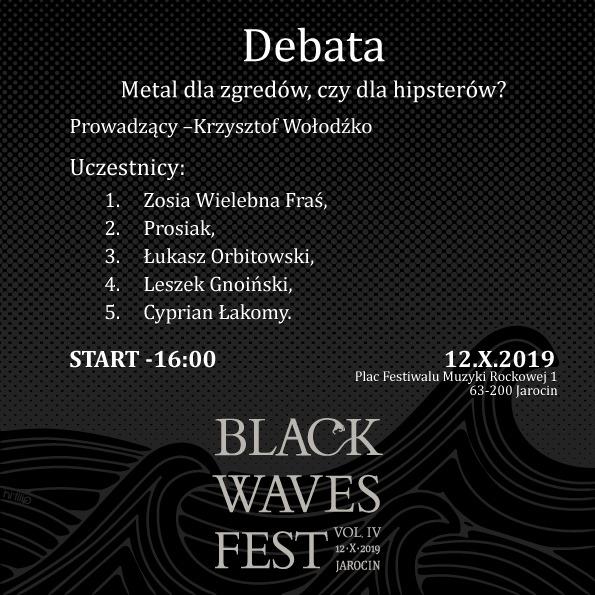 """Debata """"Metal dla zgredów czy dla hipsterów"""" podczas BWF 4."""