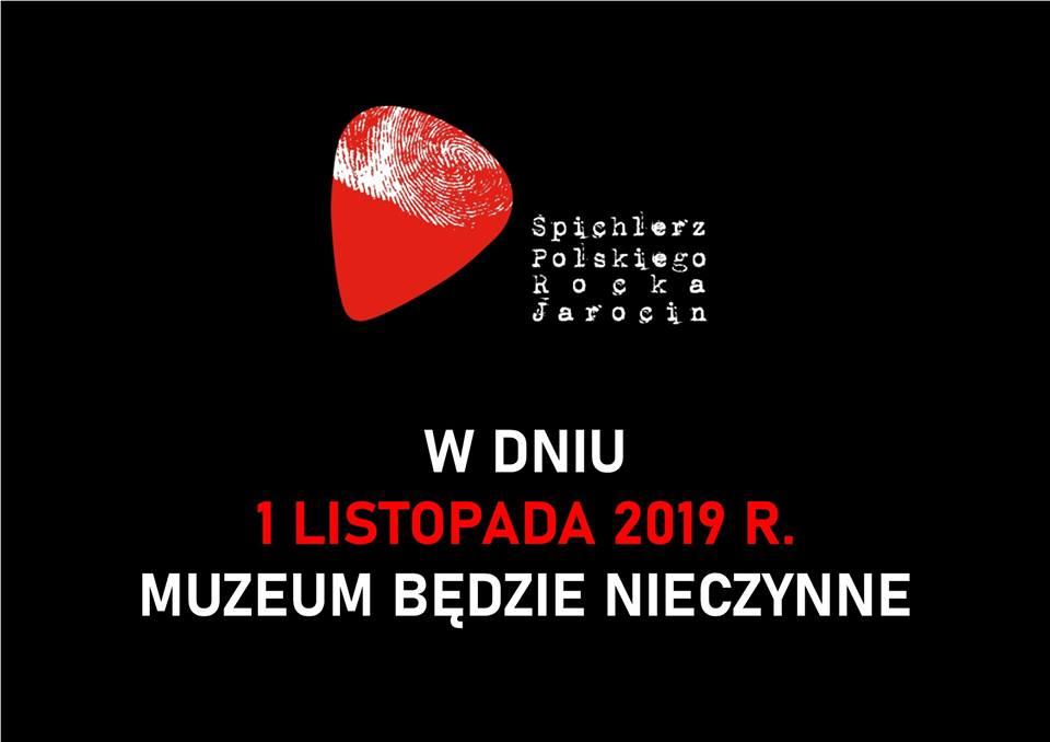 1.11.2019 r. Muzeum będzie nieczynne.