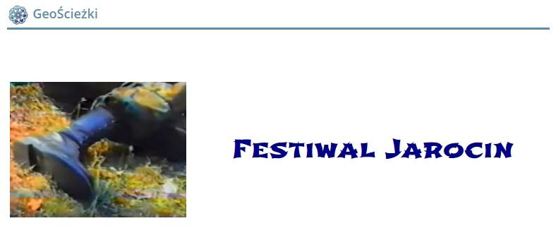 Skrzynka ścieżki Festiwal Jarocin w grze geocaching w SPR :)