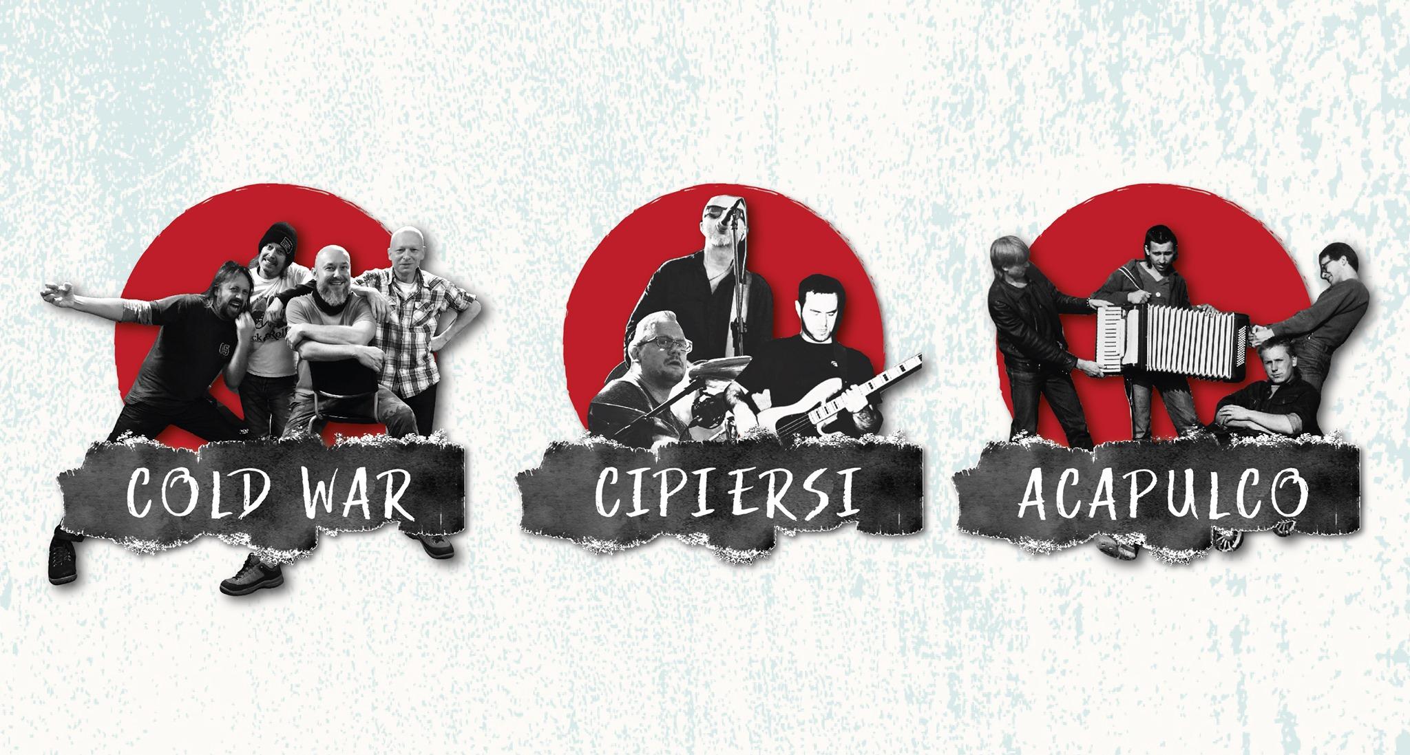 Koncert Acapulco/Cold War/Cipiersi w grudniu w Spichlerzu! Zapraszamy!