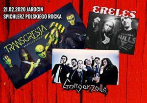 Koncert zespołów: Ereles, Gorgonzolla , Transgresja w najbliższy piątek w Klubie Kontrapunkt. Polecamy! Zapraszamy!