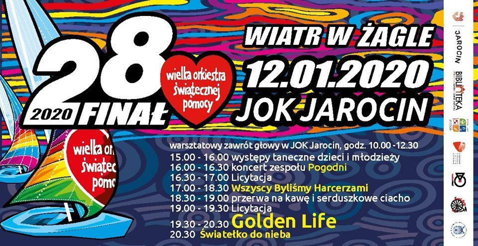28 Finał WOŚP w JOK Jarocin za tydzień w niedzielę (12.01.2020 r.). Zapraszamy! Polecamy!