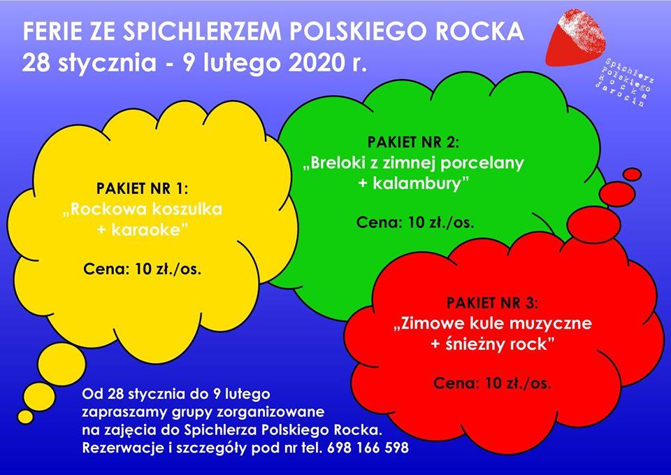 Ferie 2020 w Spichlerzu Polskiego Rocka – oferta zajęć :)