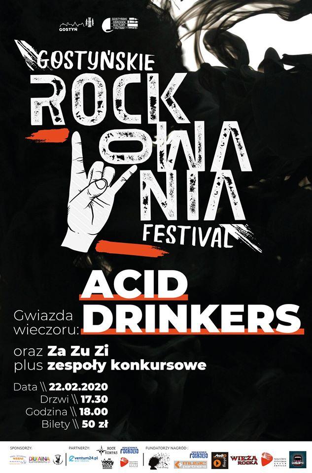 Przypominamy! Gostyńskie Rockowania Festival 2020 już za tydzień!