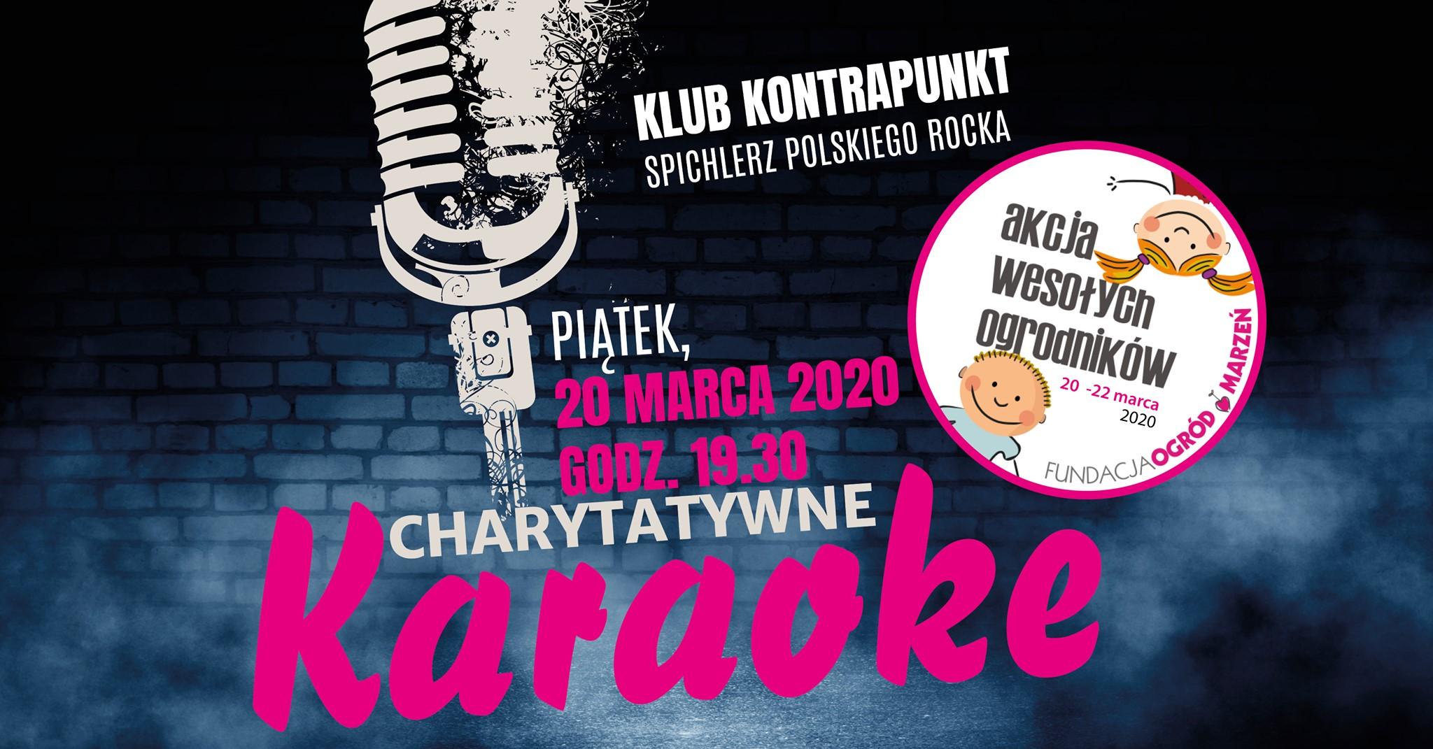 Charytatywne Karaoke w Klubie Kontrapunkt w najbliższy piątek. Zapraszamy! Polecamy! [aktualizacja] – KARAOKE ODWOŁANE