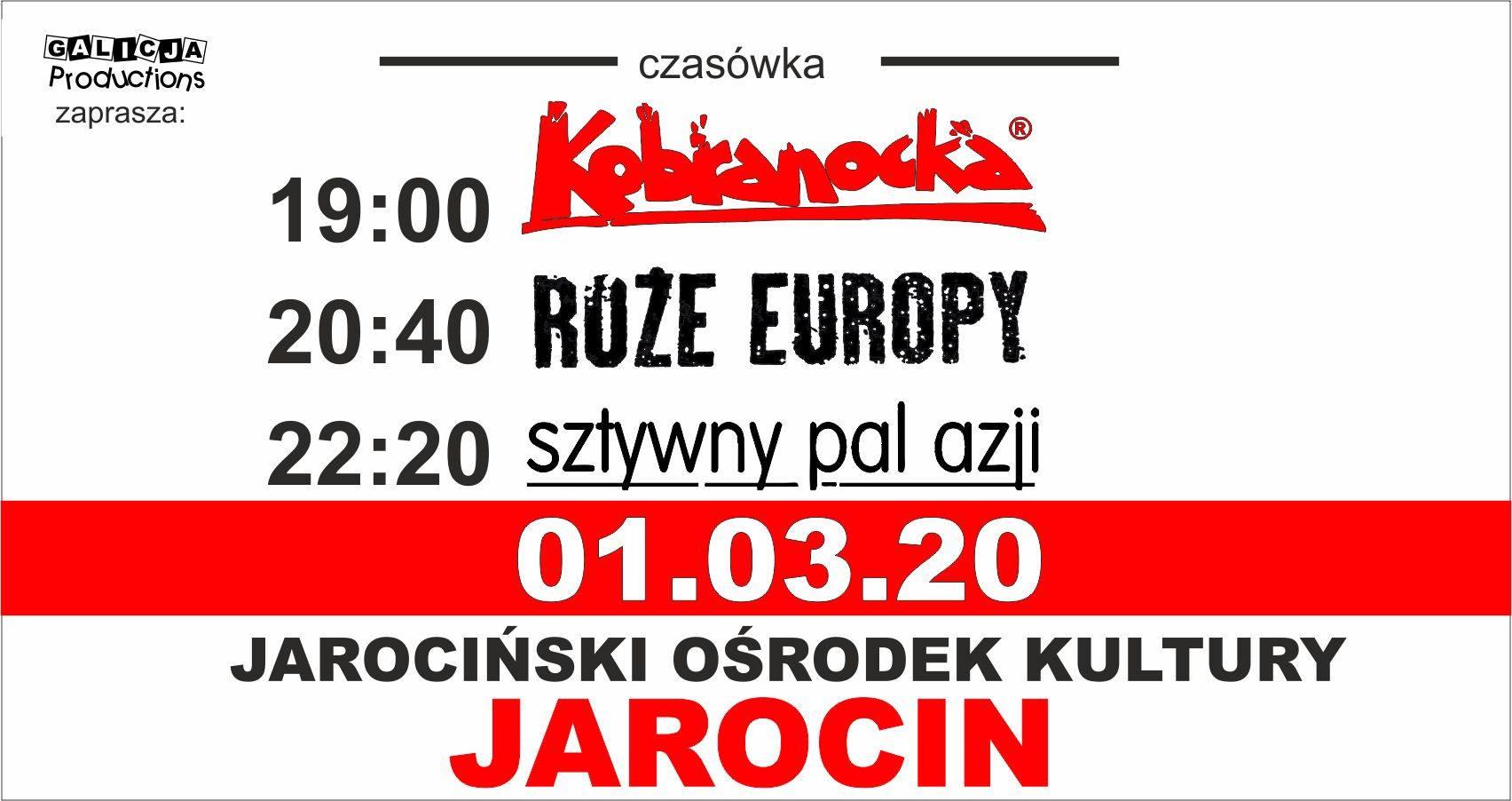 Kobranocka, Sztywny Pal Azji, Róże Europy pojutrze 1 marca 2020 r. w JOK Jarocin. Polecamy!