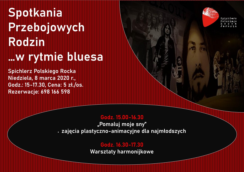 Spotkania Przebojowych Rodzin w rytmie bluesa 8.03.2020 r. Zapraszamy!