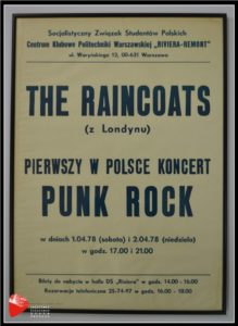 "Plakat ""The Raincoats""."
