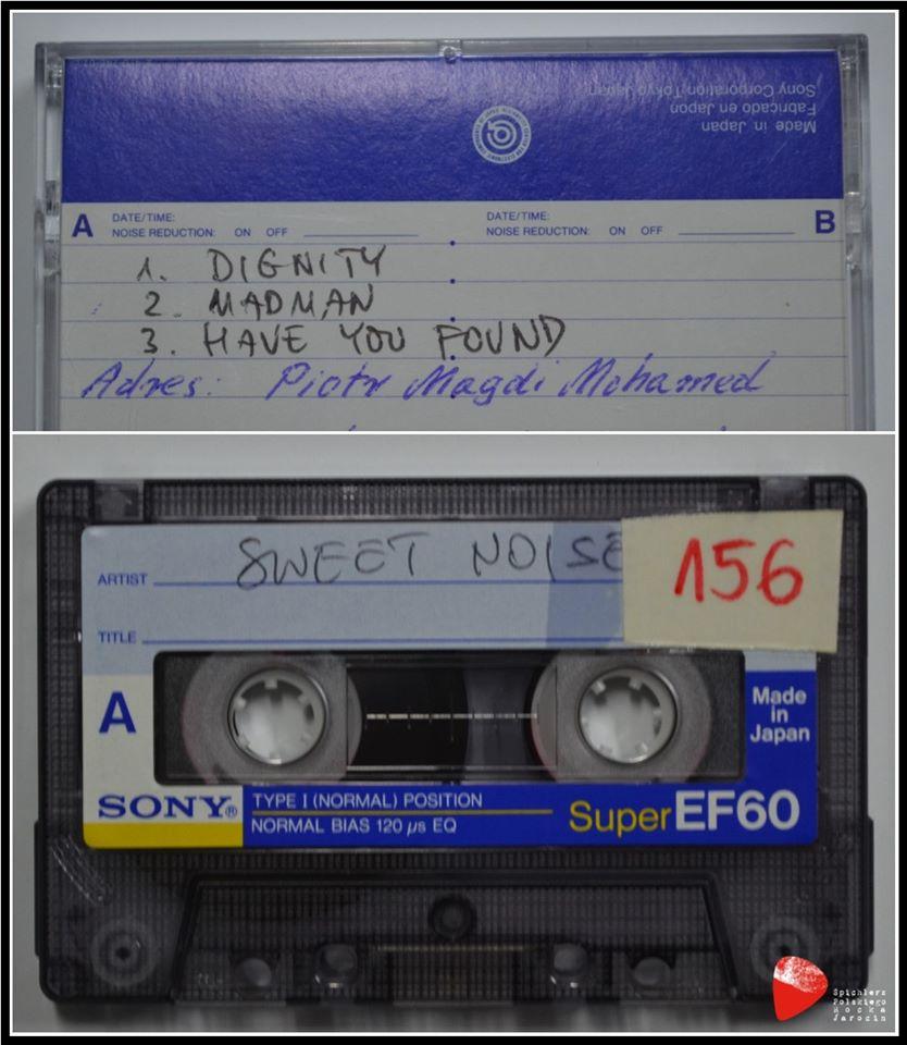 Kaseta zgłoszeniowa zespołu Sweet Noise.