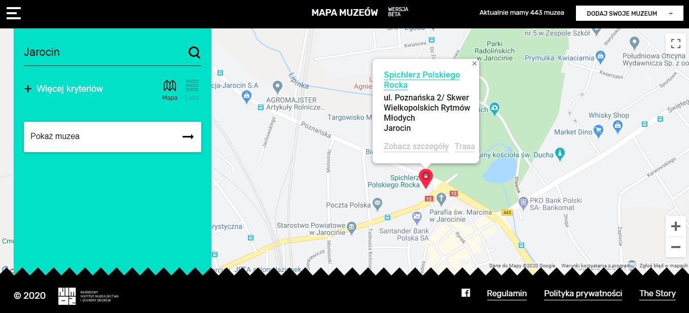 Spichlerz Polskiego Rocka na mapie muzeów :)