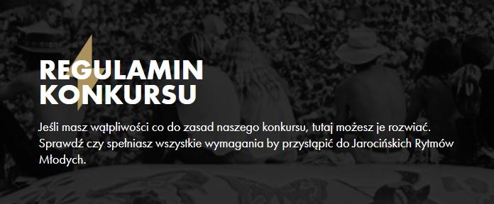 """Regulamin konkursu """"Rytmy Młodych w sieci""""."""