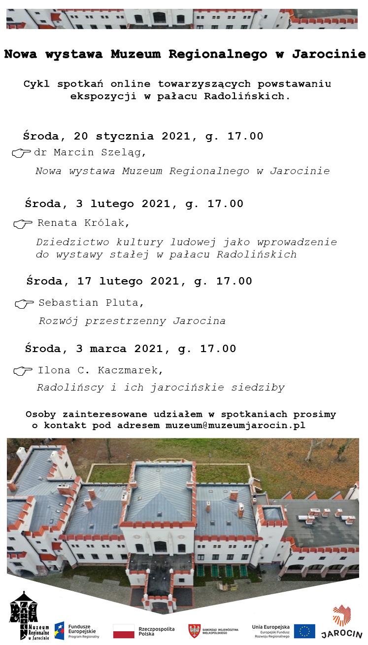 Nowa wystawa Muzeum Regionalnego w Jarocinie.  Cykl spotkań towarzyszących powstawaniu ekspozycji w pałacu Radolińskich. Zapraszamy!