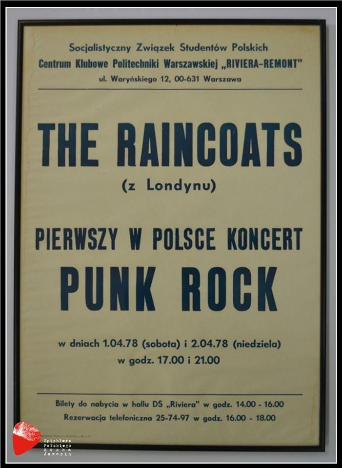 "Plakat ""The Raincoats""."