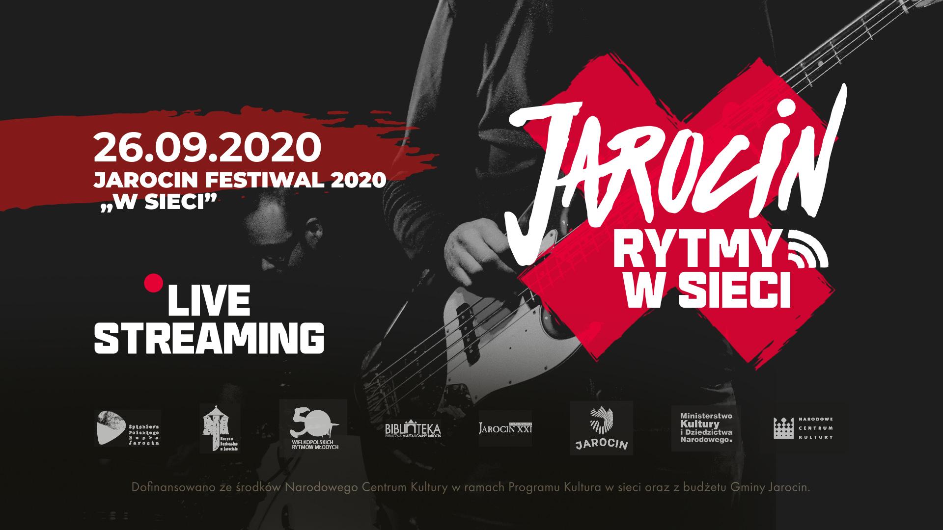 """""""Jarocin Festiwal 2020 w sieci"""" – transmisja od 17:50! Zapraszamy!"""